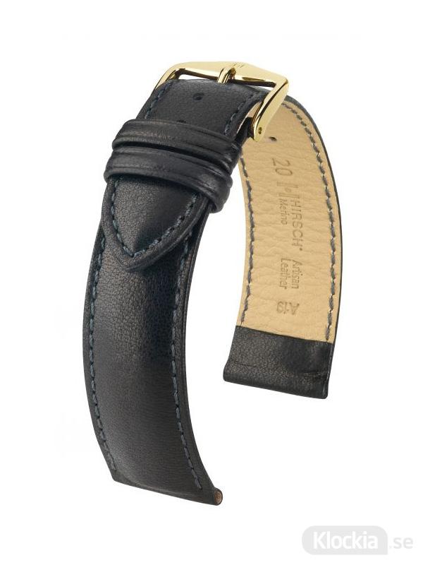 Hirsch Merino, Artisan Leather 14mm Medium Svart/Guld 01206150-1-14