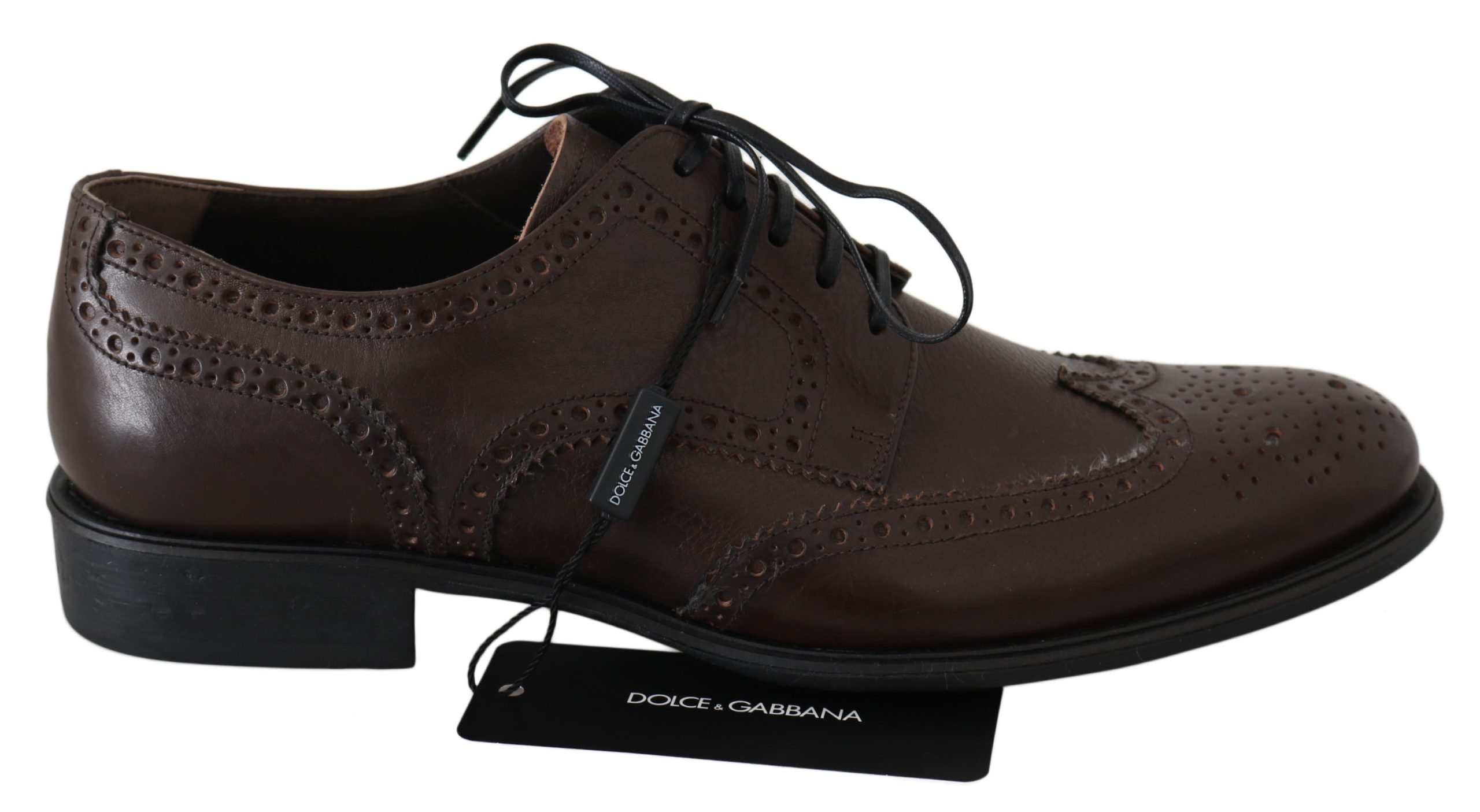 Dolce & Gabbana Men's Leather Brogue Shoes Brown MV2469 - EU39/US6