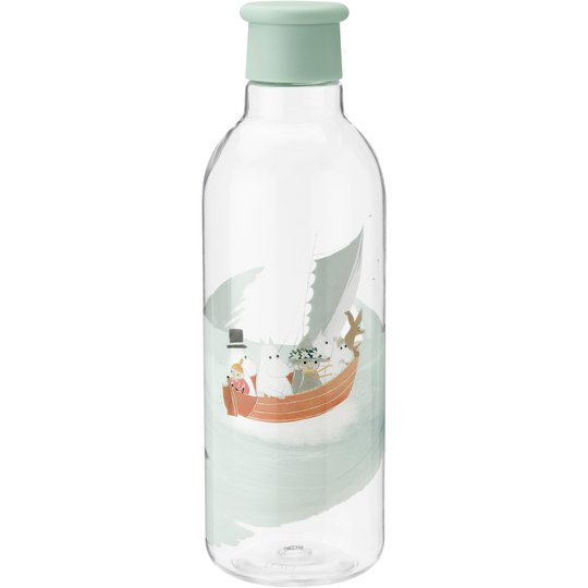 RIG-TIG DRINK-IT Mumintroll vattenflaska, Dusty Green