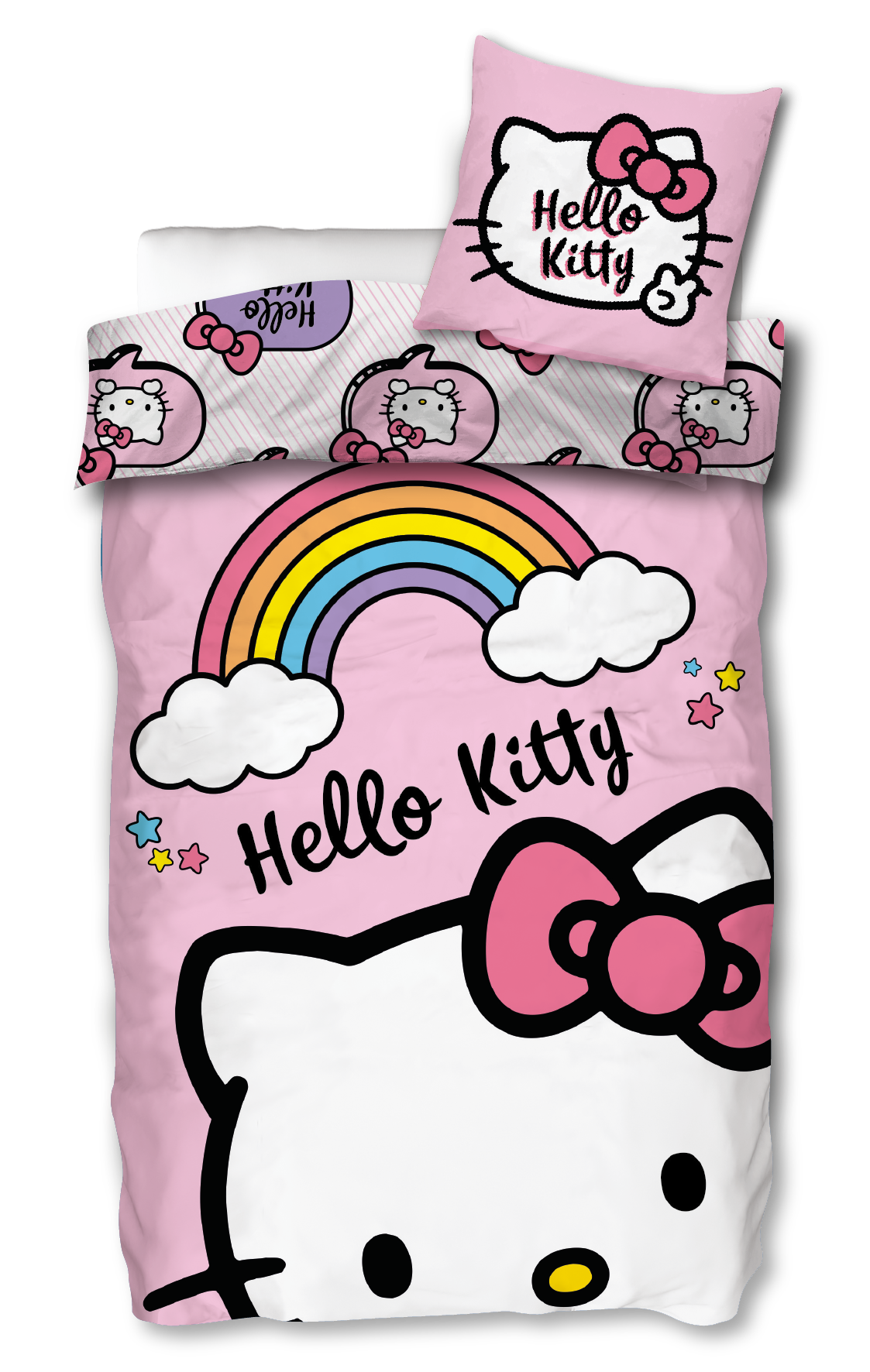 Bed Linen - Adult Size 140 x 200 cm - Hello Kitty (HK005)