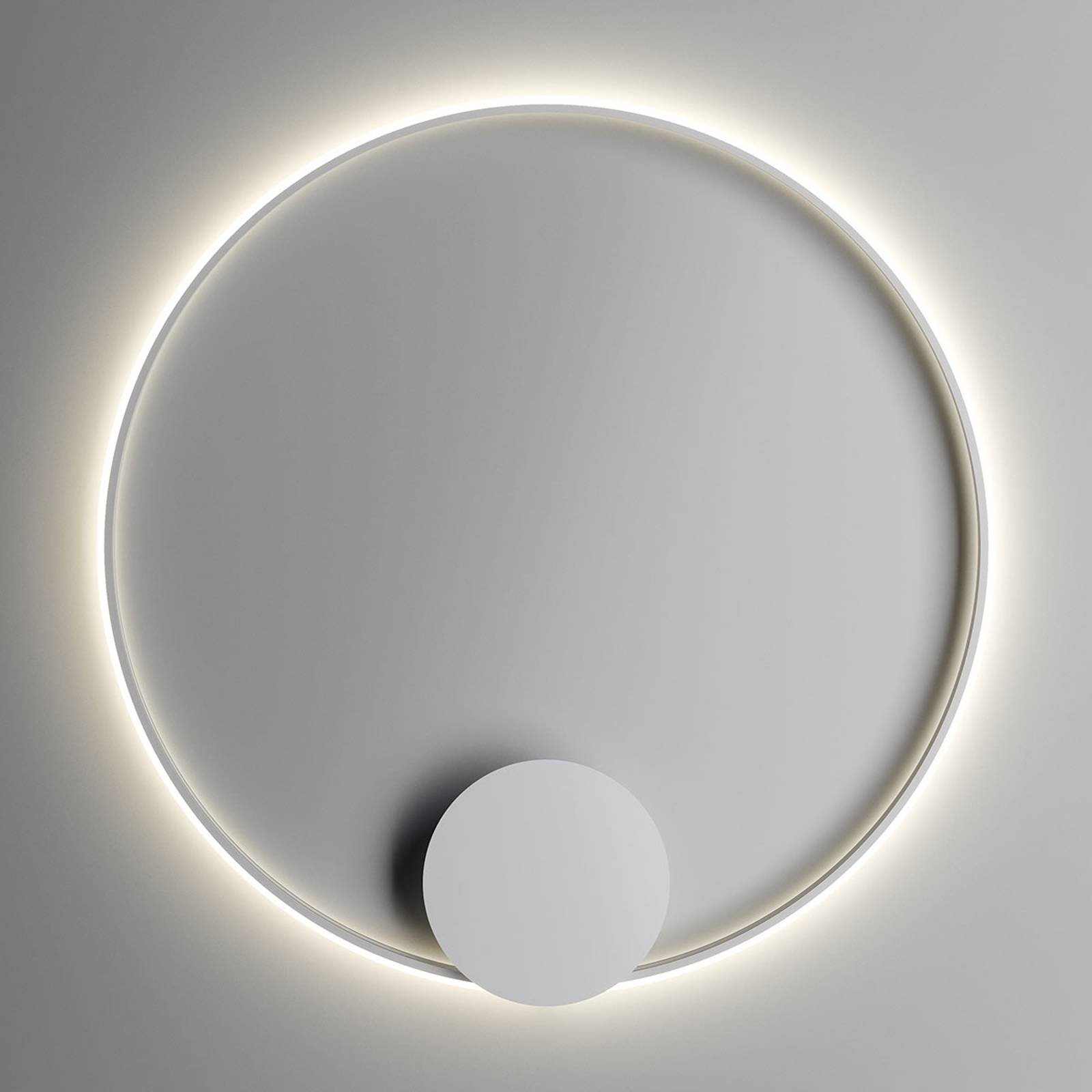 Fabbian Olympic LED-vegglampe 110 cm, hvit