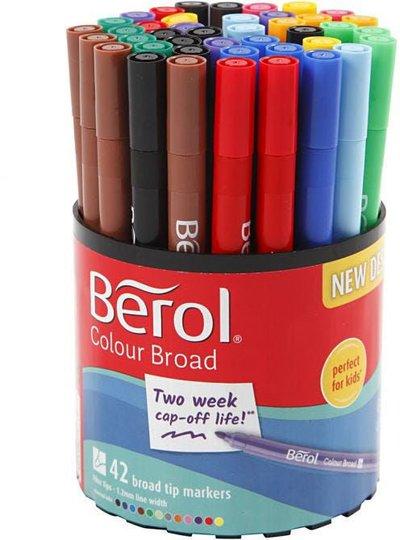 Berol Colourfine Blandede Farger 42stk