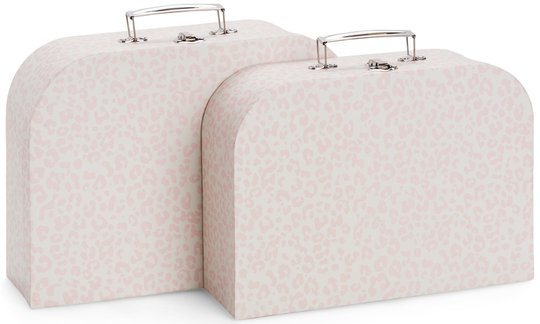 Alice & Fox Pappkoffert 2-pack, Pink Leopard