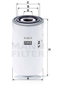 Öljynsuodatin MANN-FILTER W 9019