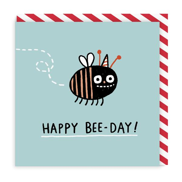 Happy Bee Day Square Birthday Greeting Card