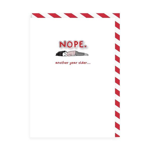 Nope Enamel Pin Greeting Card