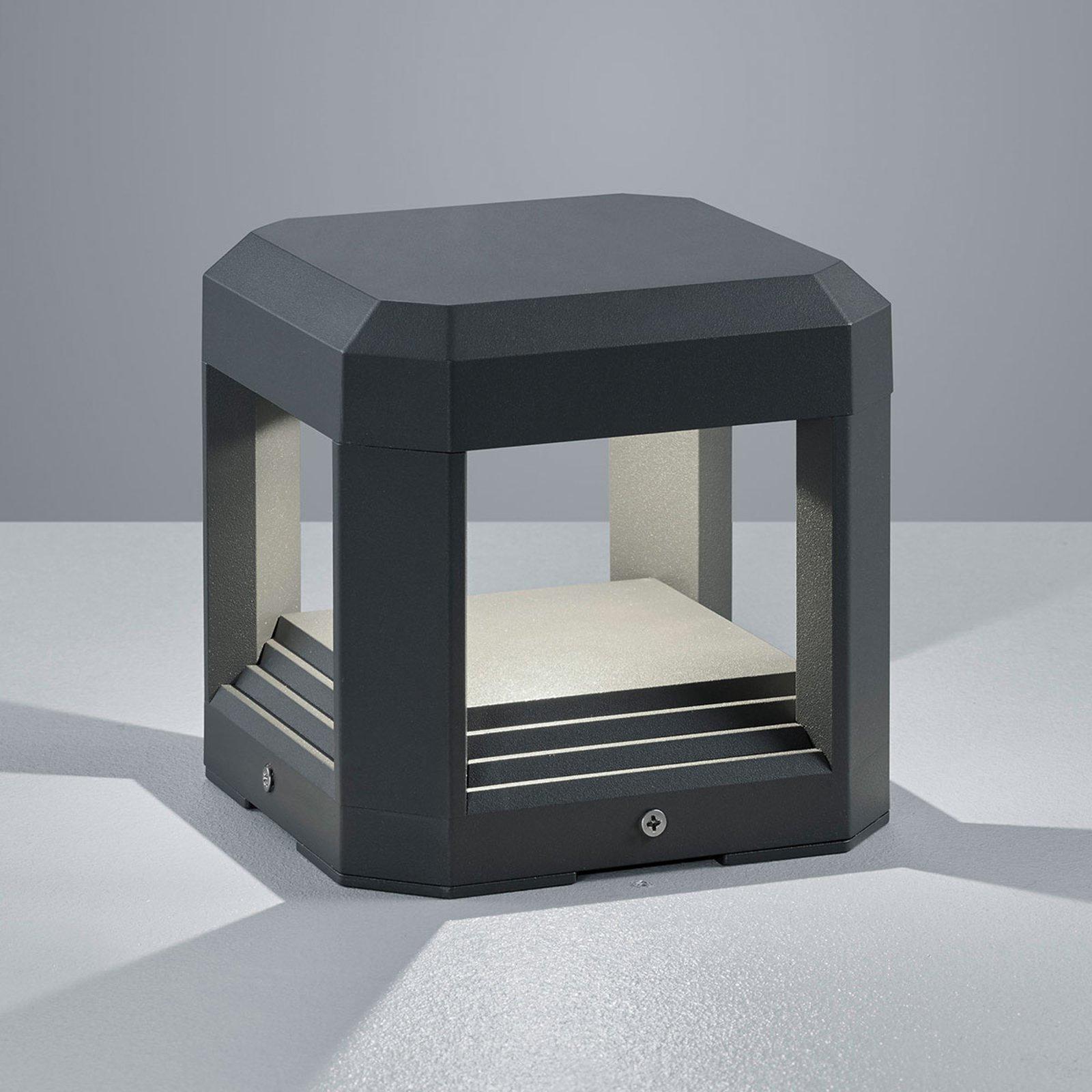 Terningformet, utendørs LED-vegglampe Logone