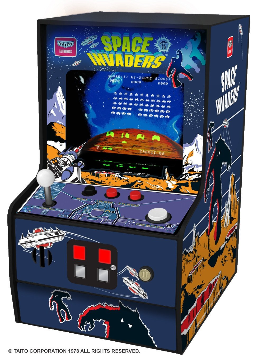Myarcade Micro Player Collectible Retro Space Invaders