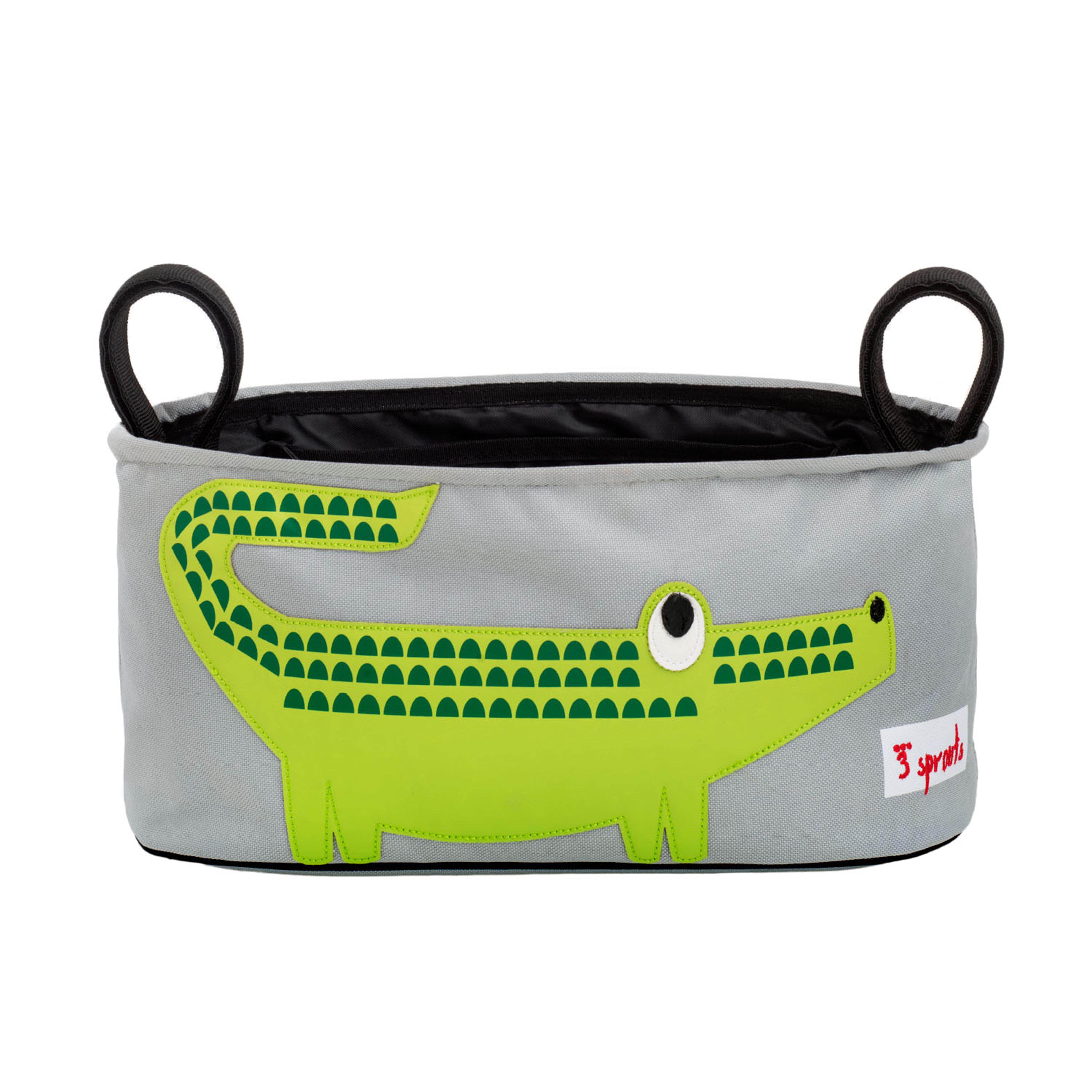 3 Sprouts - Stroller Organizer - Green Crocodile