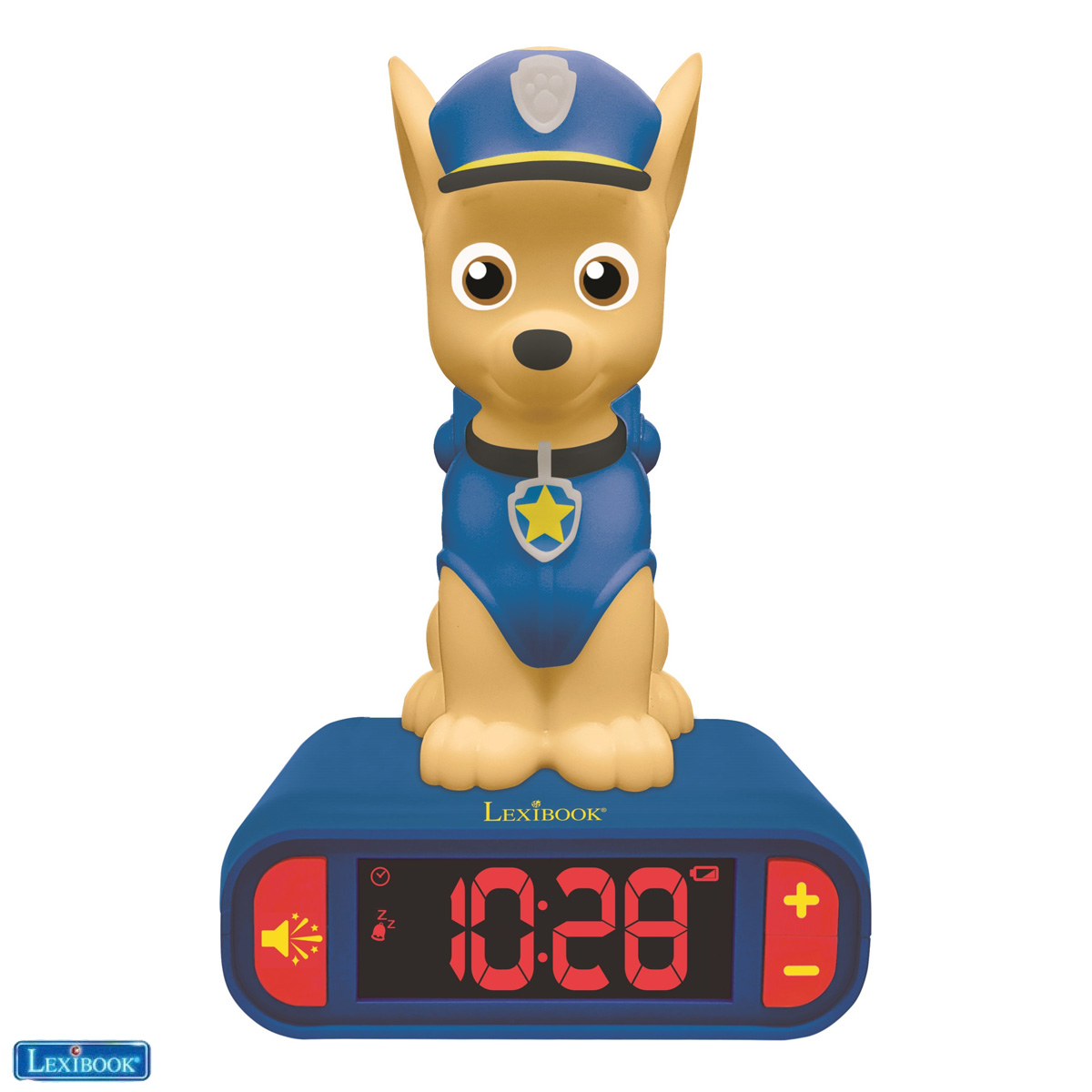 Lexibook - Alarm Clock with Night Light 3D design Paw Patrol Chase and sound effects (RL800PA)