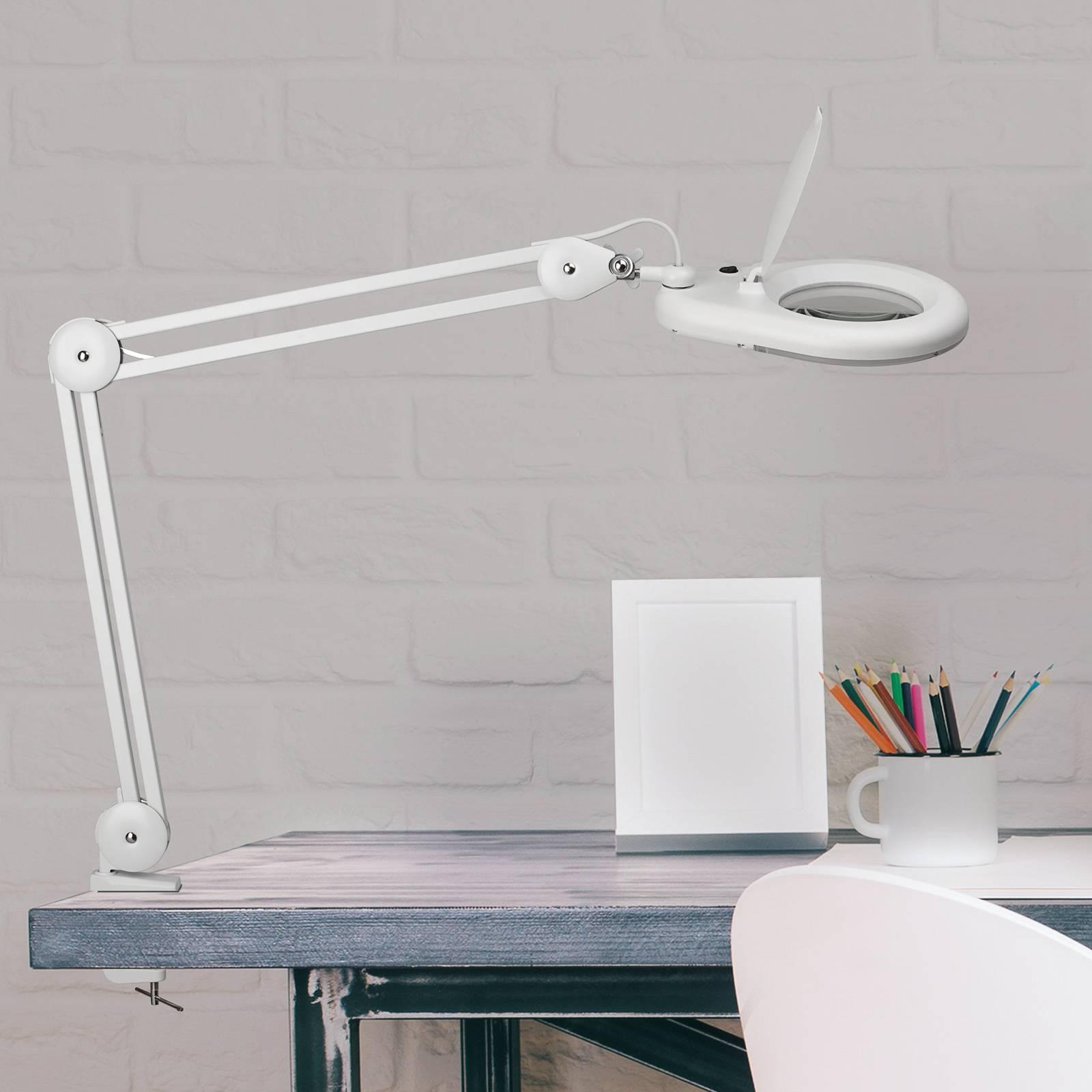 LED-suurennuslasivalaisin MAULviso, valkoinen