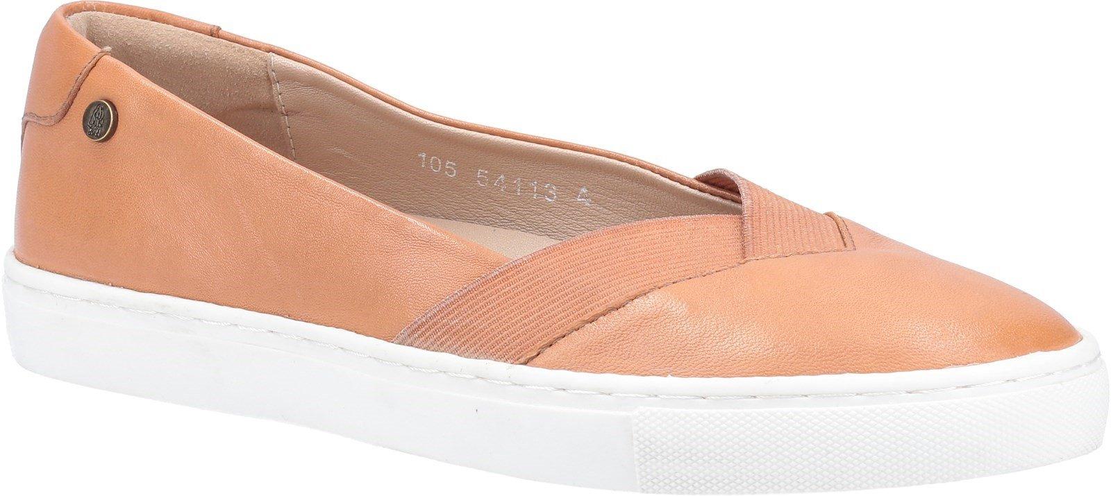 Hush Puppies Women's Tiffany Slip On Flat Shoe Various Colours 31962 - Tan 3