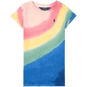 Ralph Lauren Multicolor T-shirtklänning Rosa 2 år