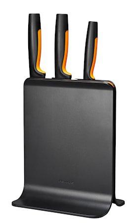 FF Knivblokk i plast med 3 kniver