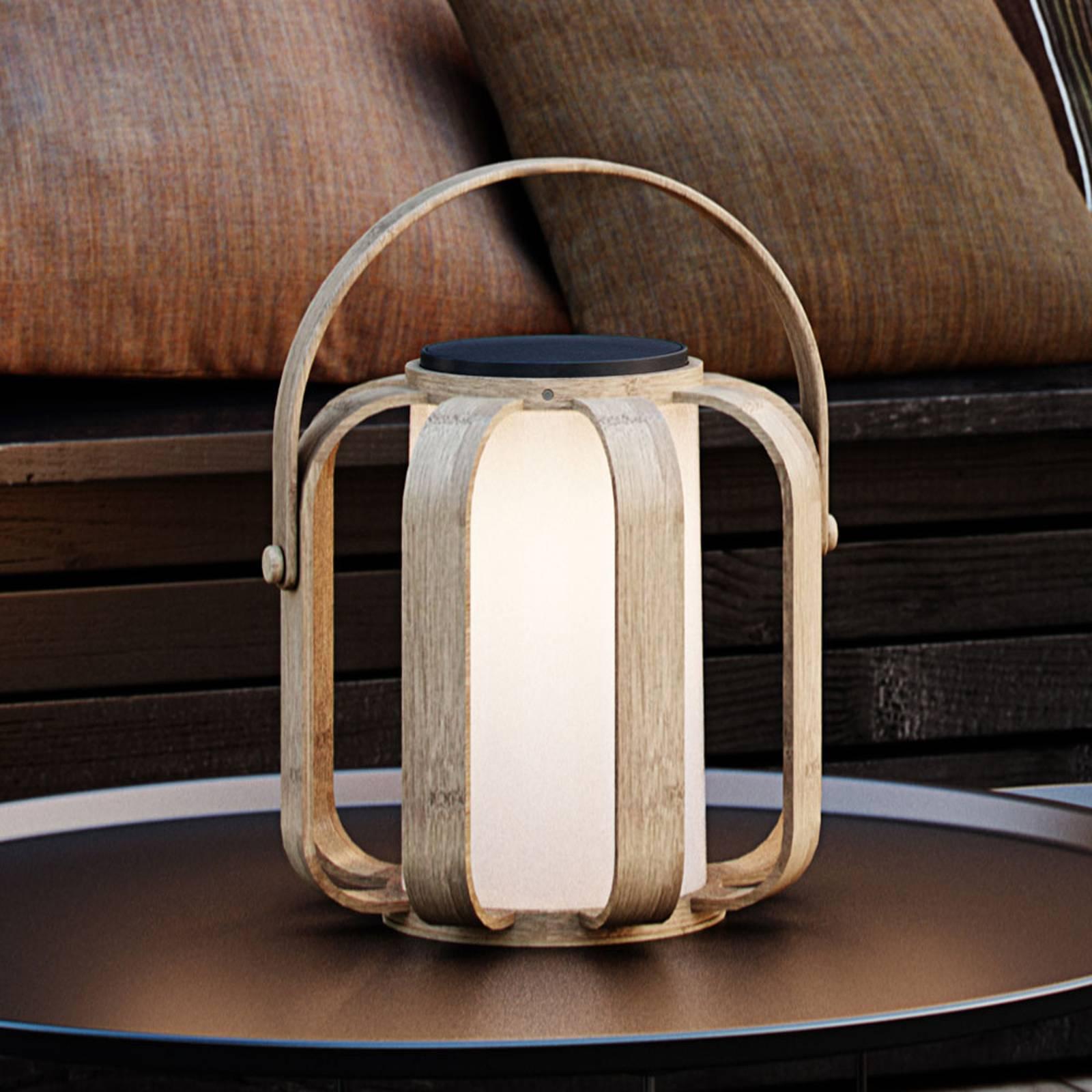 Aurinkokäyttöinen LED-koristevalaisin Bob, bambua