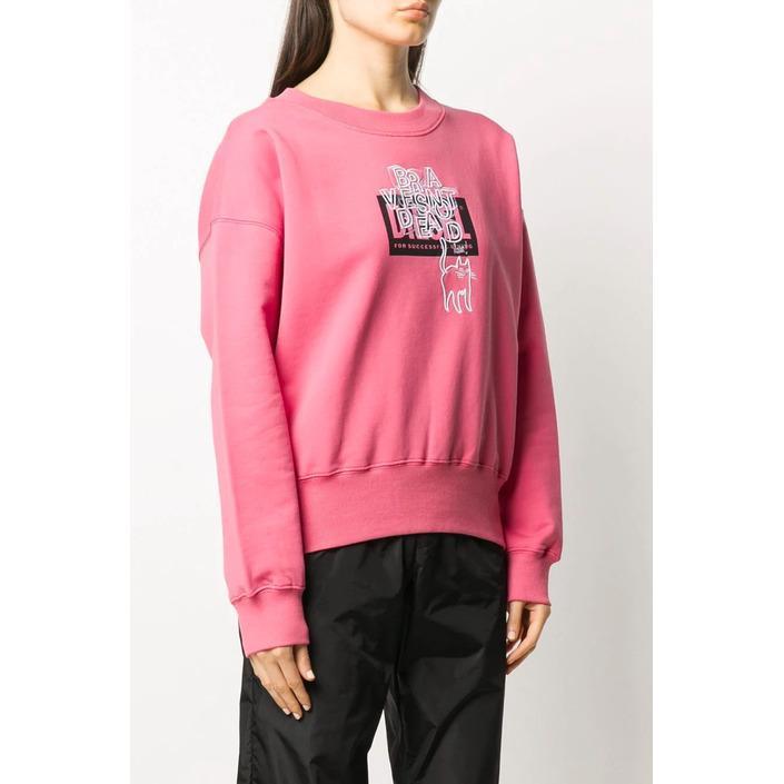 Diesel Women's Sweatshirt Various Colours 312555 - pink S