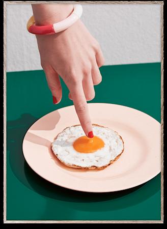 Fried Egg Poster 30x40 cm