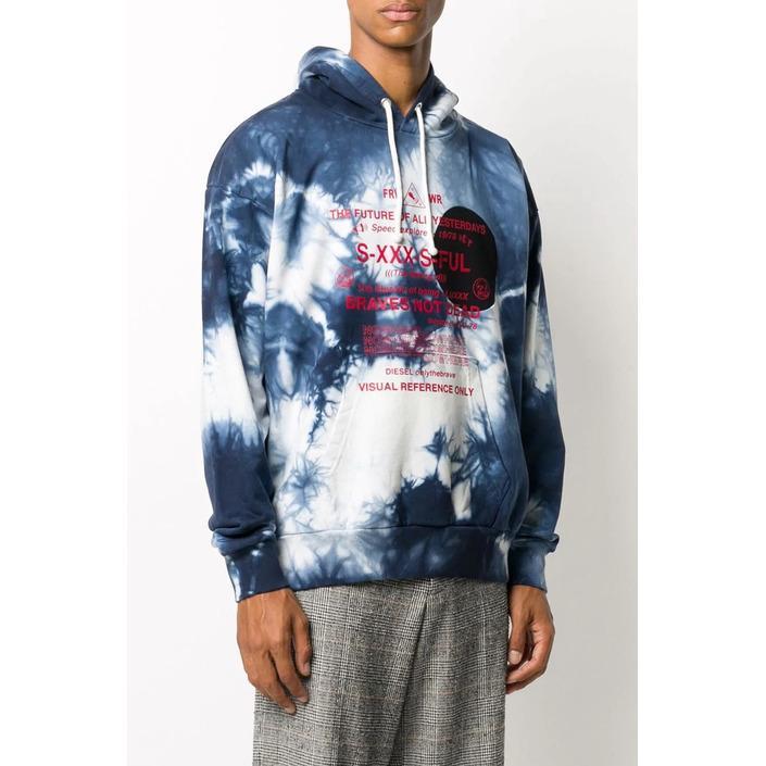 Diesel Men's Sweatshirt Blue 294033 - blue L