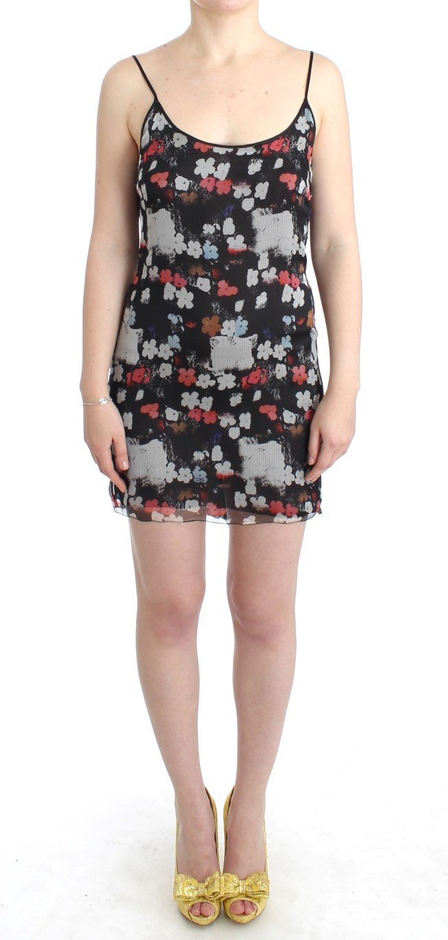 Costume National Women's Floral silk mini Dress Multicolor SIG11657 - IT40|S