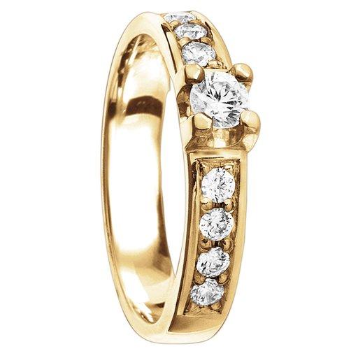 Diamantring i 18K guld, 66