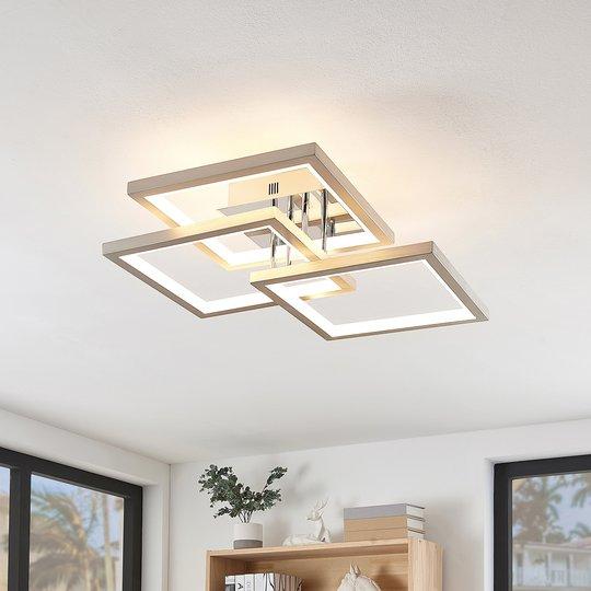 Lucande Avilara -LED-kattovalo, 57 cm x 57 cm