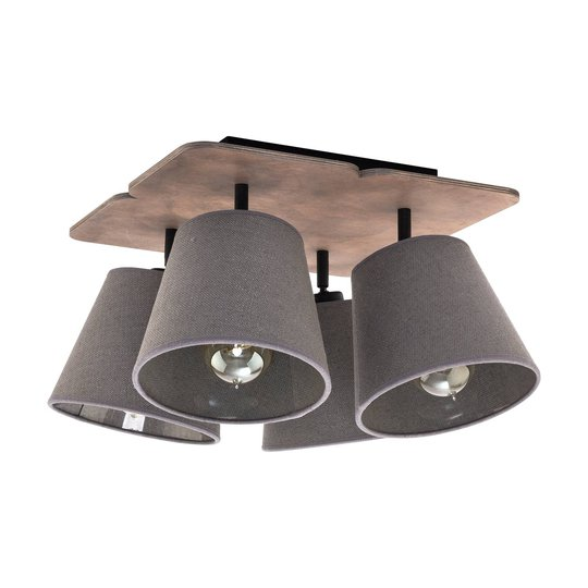 Awinion taklampe, 4 lyskilder, brun