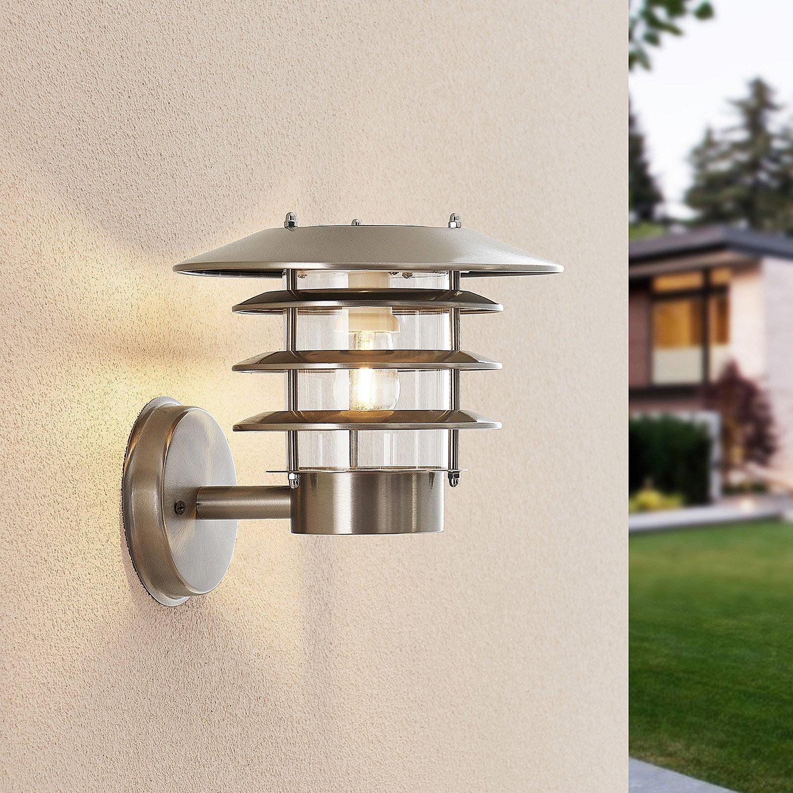 Lindby Dimara solcelledrevet utend. LED-vegglampe