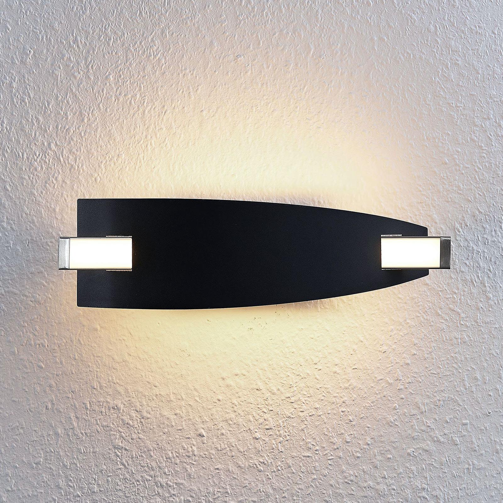 LED-seinävalaisin Marija, musta
