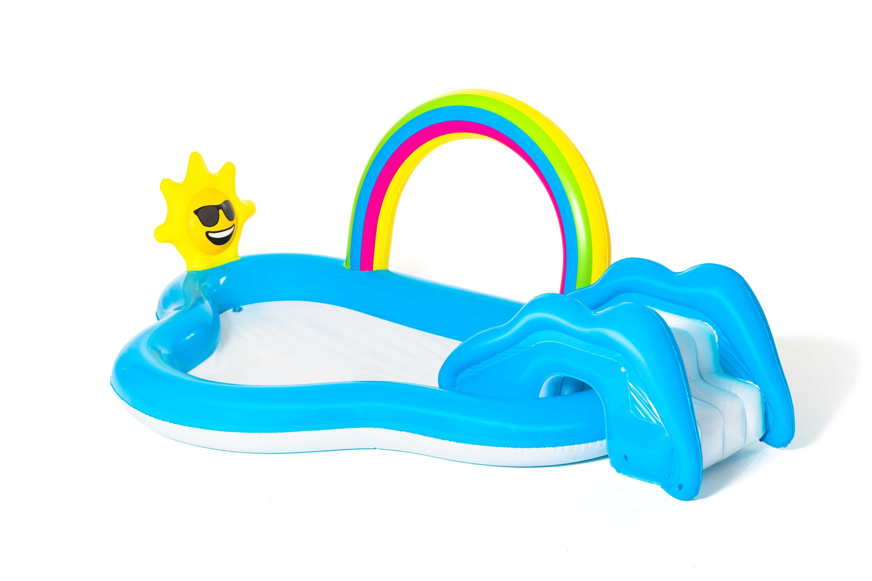 Bestway - Rainbow n' Shine Pool and Play Center - 2.57m x 1.45m x 91cm (53092)