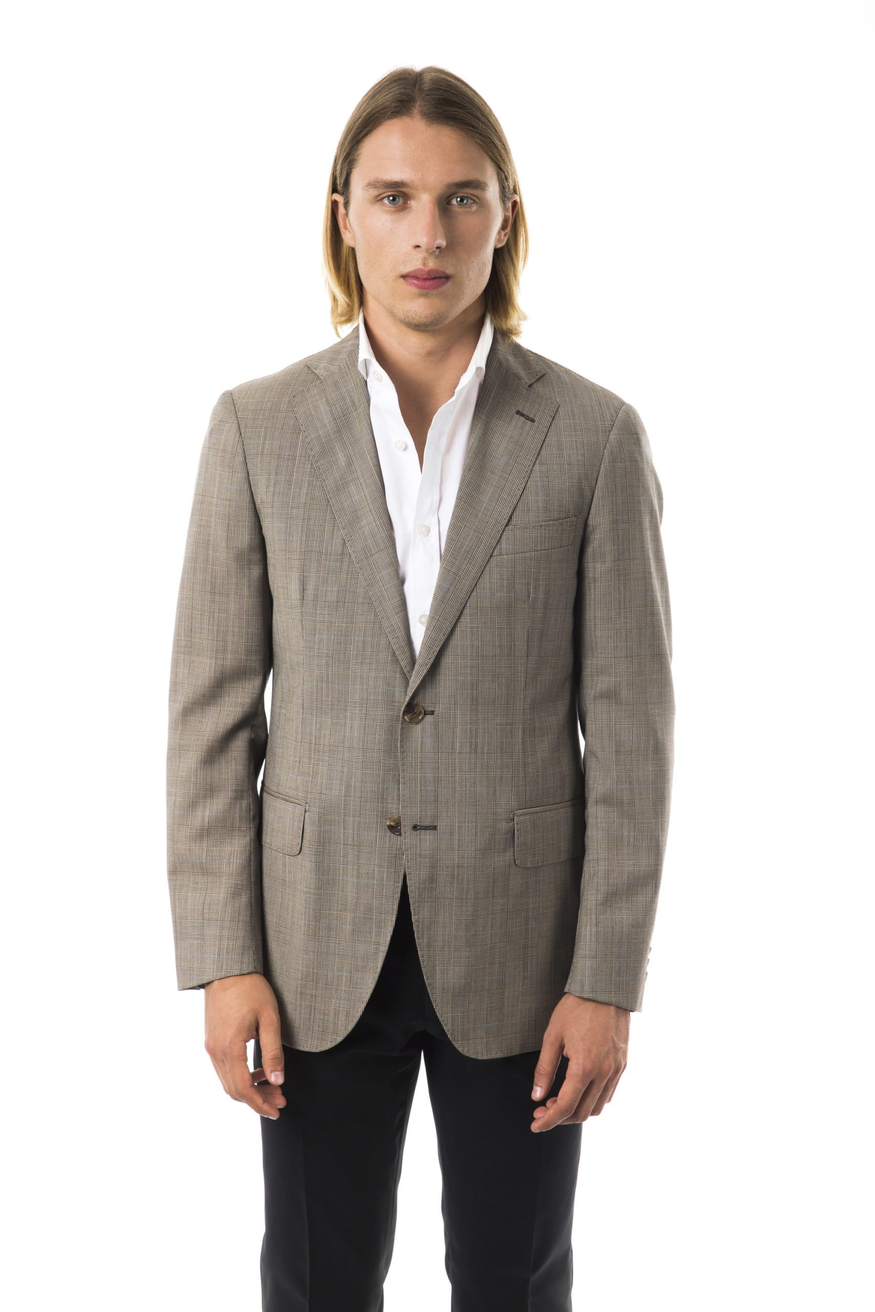 Uominitaliani Men's Q Blazer Gray UO997312 - IT50   L