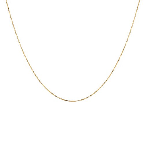 Halsband i förgyllt äkta silver 68 cm