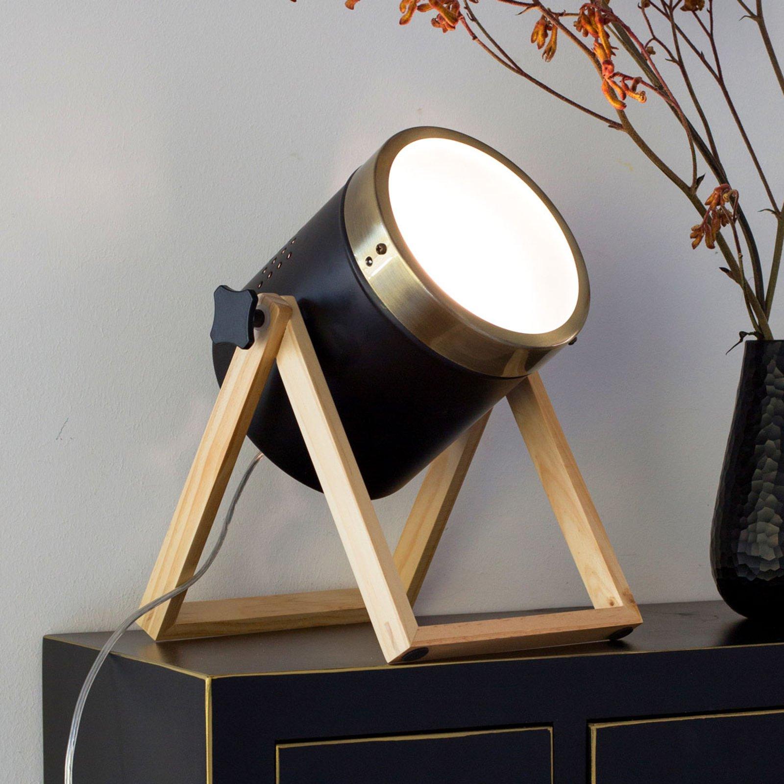 Bordlampe Tim svart, gull
