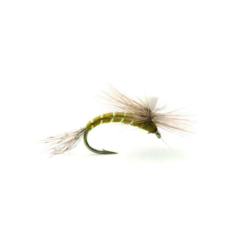 Baetis Klekker Olive #14 Kjøp 12 fluer få gratis flueboks