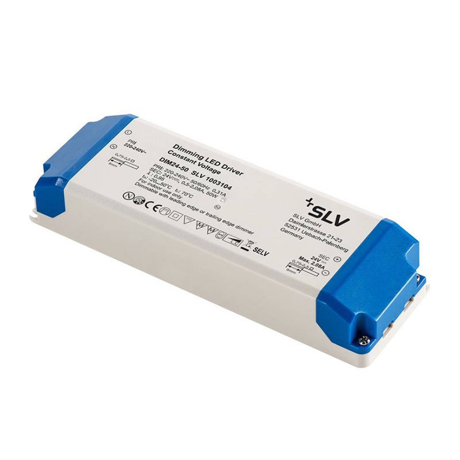 SLV-LED-muuntaja 24V, 50W, TRIAC-himmennys