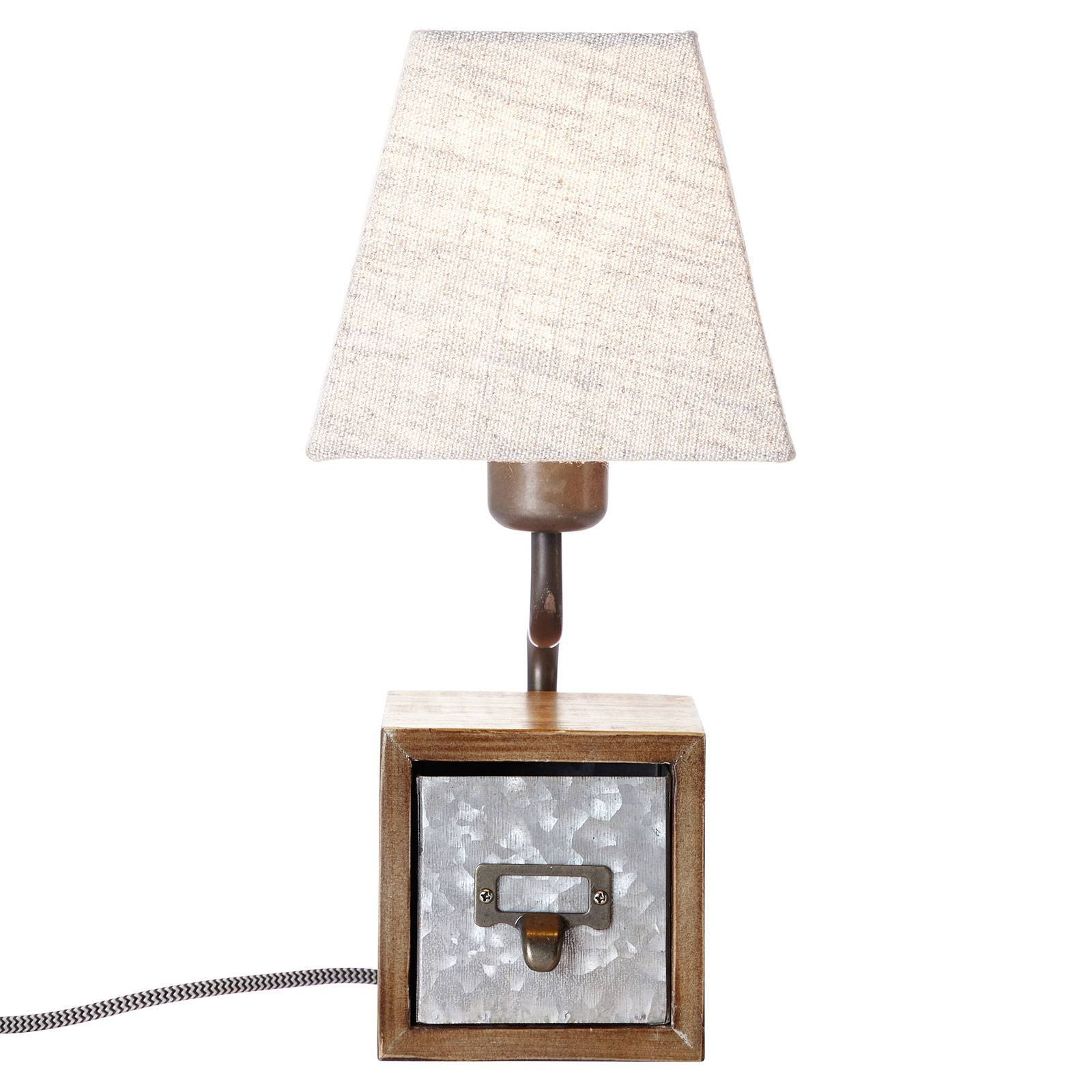 Tekstil-bordlampe Casket med skoskuff