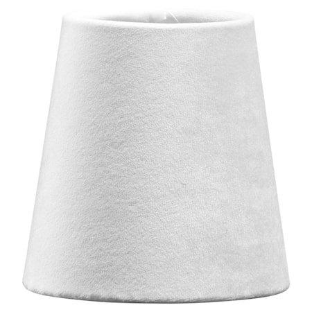 Lampeskjerm Queen Fløyel Hvit 10cm