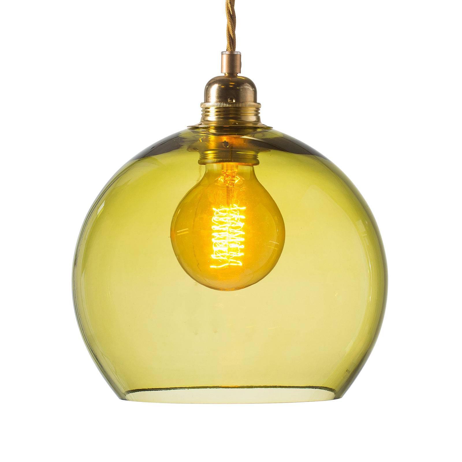 EBB & FLOW Rowan hengelampe gull/olivengrønn Ø22cm