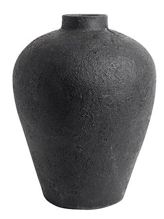 Luna Krukke Svart Terracotta 40x32 cm