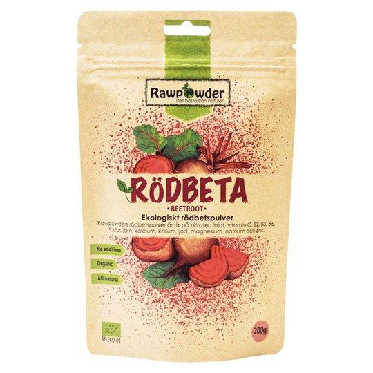 Rawpowder Ekologiskt Rödbetspulver, 200 g
