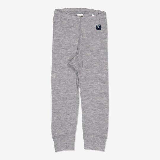 Merinoull bukse baby gråmelange