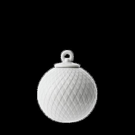 Rhombe Dekorasjonskule Ø7 cm Grå Porselen