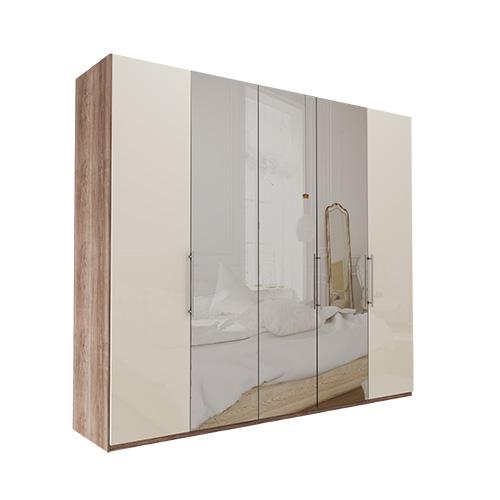 Garderobe Atlanta - Mørk rustikk eik 250 cm, 216 cm, Uten gesims / ramme