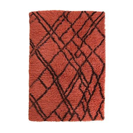 Woolen berber Teppe funky Red 120x180 cm
