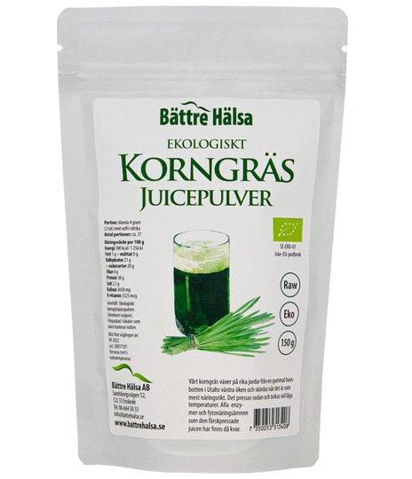 Korngräsjuicepulver EKO, 150 g