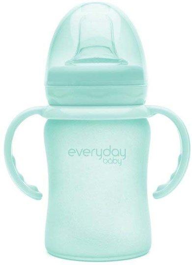 Everyday Baby Barnekopp i Glass m. Drikketut150ml, Green