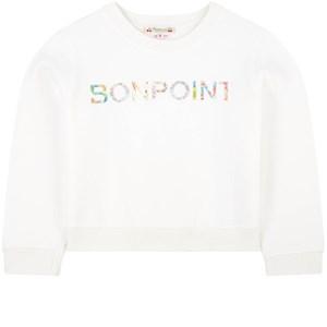 Bonpoint Floral Liberty Logo Tröja Vit 4 years