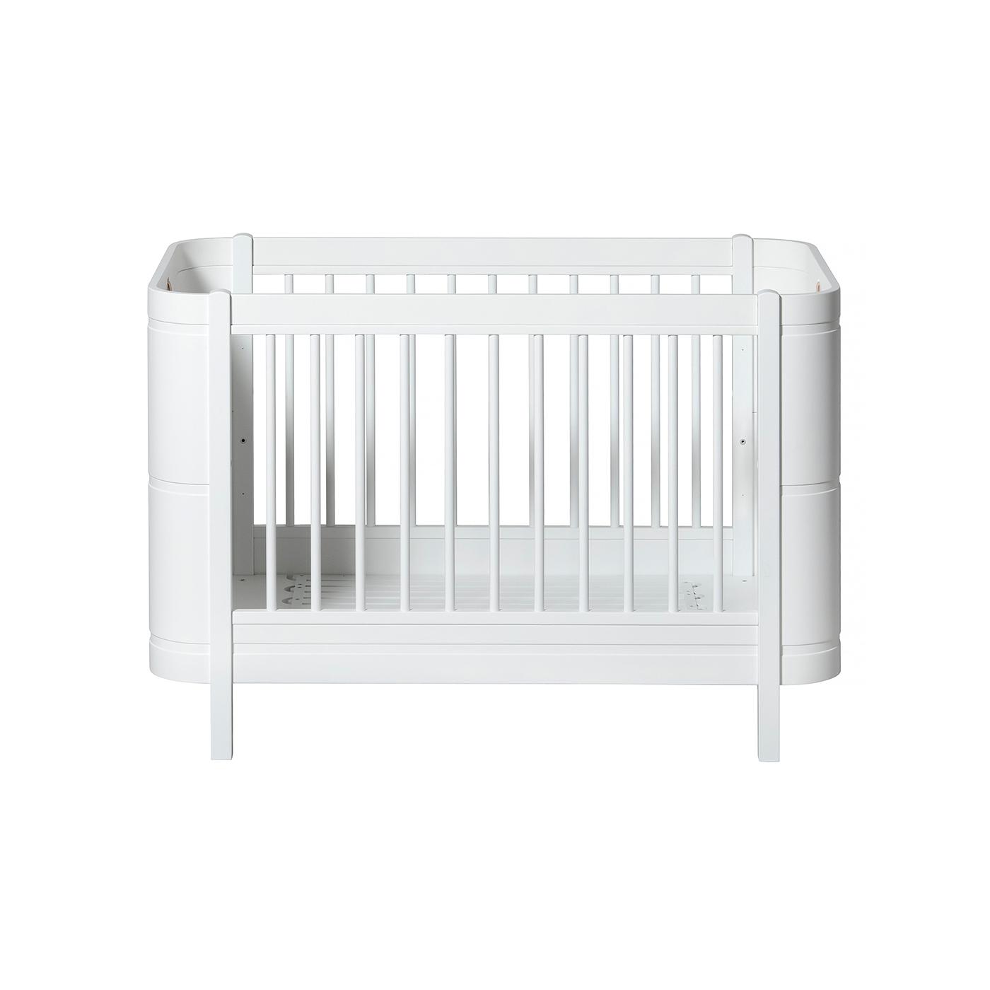 Spjälsäng Wood Mini+Basic vit, Oliver Furniture