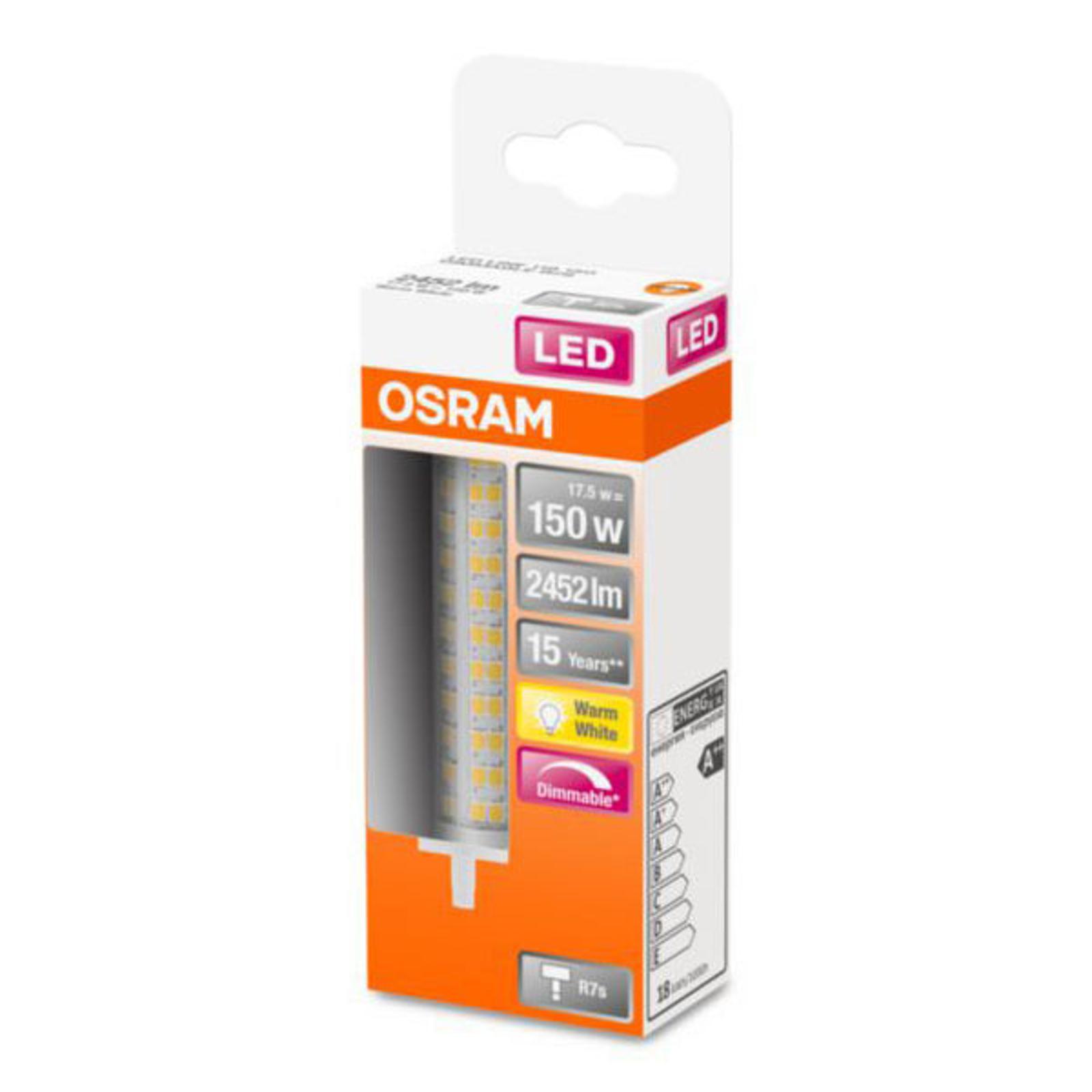 OSRAM-LED-lamppu R7s 17,5W 2 700 K himmennettävä