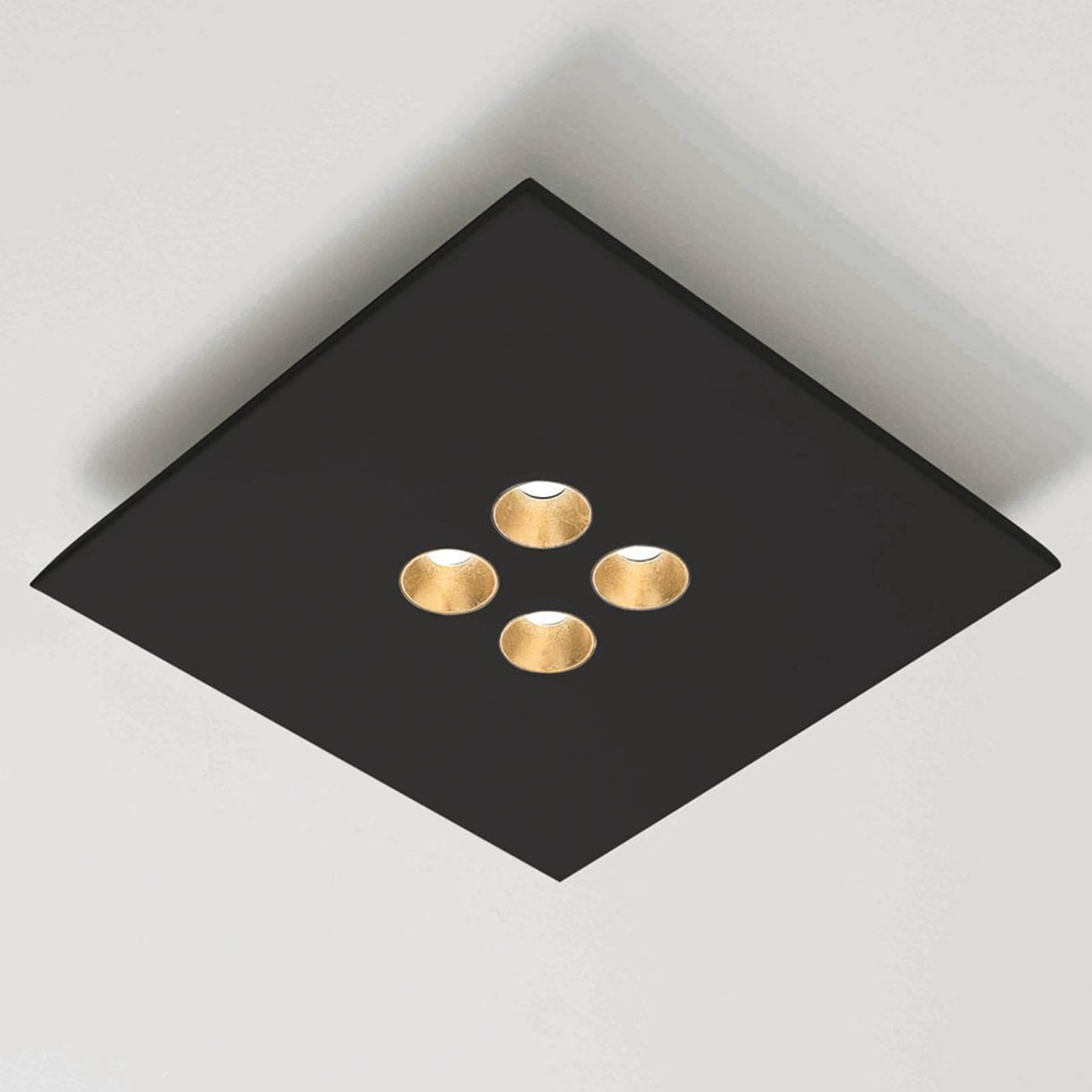 ICONE Confort -LED-kattovalaisin, tyylikäs musta