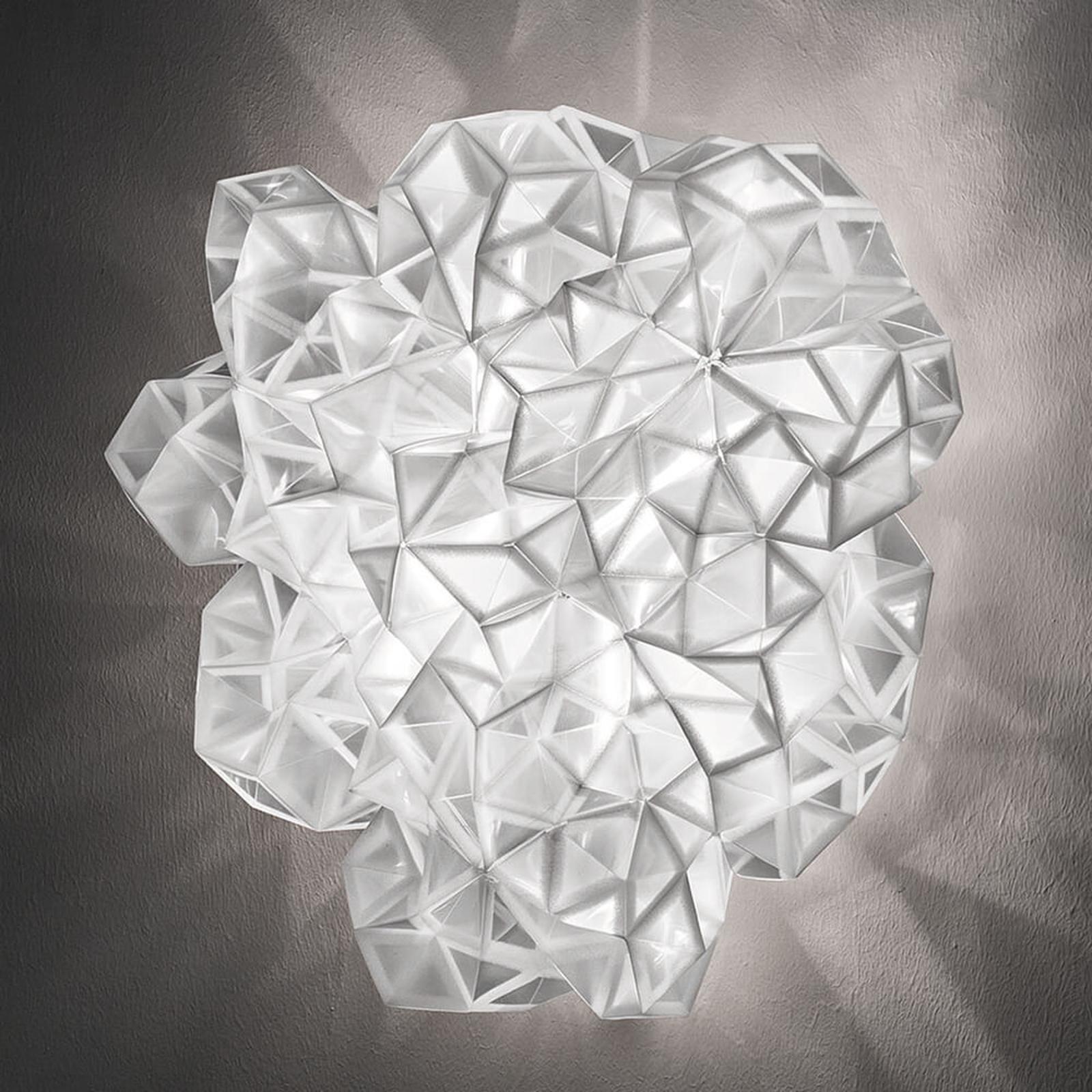 Slamp Drusa -design-seinävalaisin, valkoinen